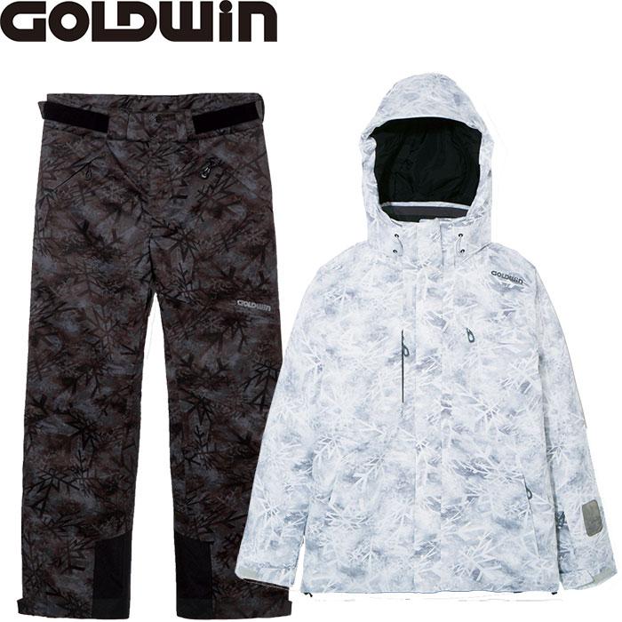 [11/16まで 10%OFFクーポンあり] GOLDWIN ゴールドウィン RAY JACKET&PANTS 【技術選着用モデル】〔特価 スキーウェア 2018 上下セット〕 (スノーホワイト):G11711P-G31715P