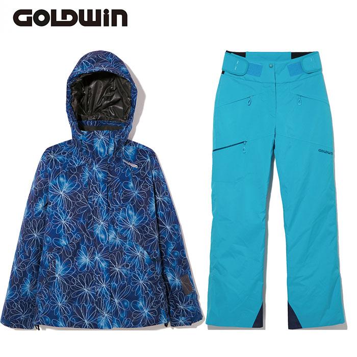 [11/16まで 10%OFFクーポンあり] [送料無料] ゴールドウィン GOLDWIN W'S SASHIKO FLO JK & W'S ATRAS PANTS 〔レディース スキーウェア 上下セット 17/18〕 (NBTQ):GL11707P-GL31702P