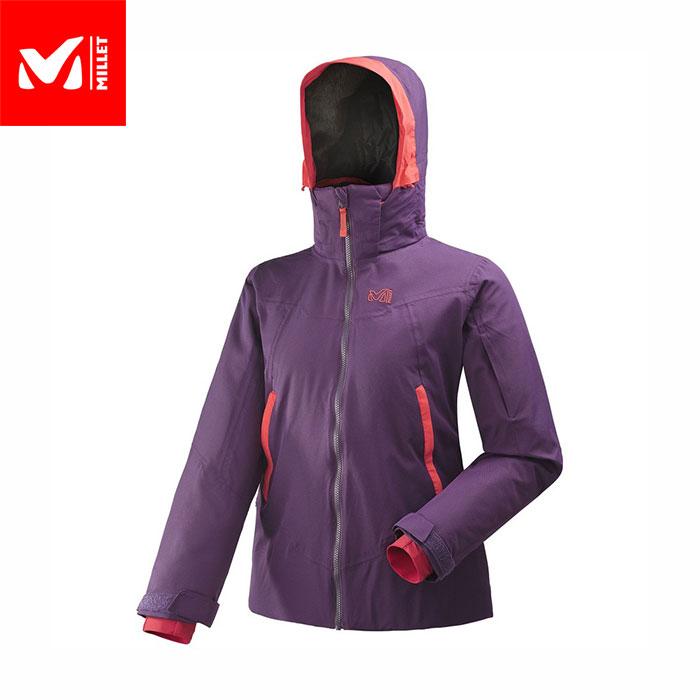 [11/16まで 10%OFFクーポンあり] [送料無料] MILLET ミレー アトナピークジャケット LD ATNAPEAK JKT 2018FW スキーウェア ジャケット Woman 女性用 (BLACKBERRY):MIV8100
