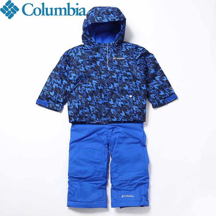 columbia コロンビア 18-19 バガセット BUGA SET Jr.スキーウェア 子供用スキーウェア上下セット (SUPER-BLUE-ARR):SC1091