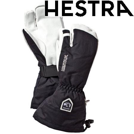 [11/16まで 10%OFFクーポンあり] ヘストラ HESTRA 2019モデル HELI SKI 3 FINGER ヘリスキー スリーフィンガー スキーグローブ col:100 Black (-):30572