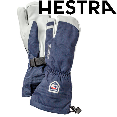 [11/16まで 10%OFFクーポンあり] ヘストラ HESTRA 2019モデル HELI SKI 3 FINGER ヘリスキー スリーフィンガー スキーグローブ col:280 Navy (-):30572