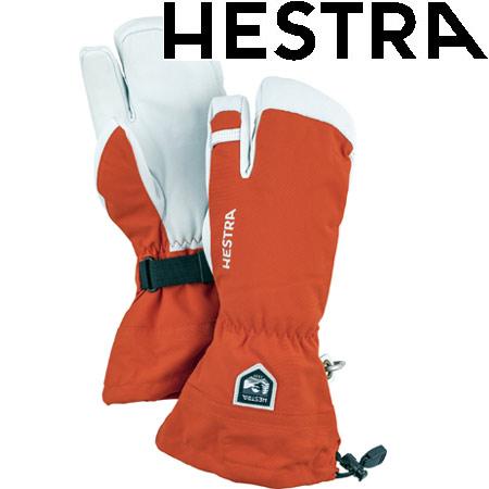 [11/16まで 10%OFFクーポンあり] ヘストラ HESTRA 2019モデル HELI SKI 3 FINGER ヘリスキー スリーフィンガー スキーグローブ col:530 Light Red (-):30572
