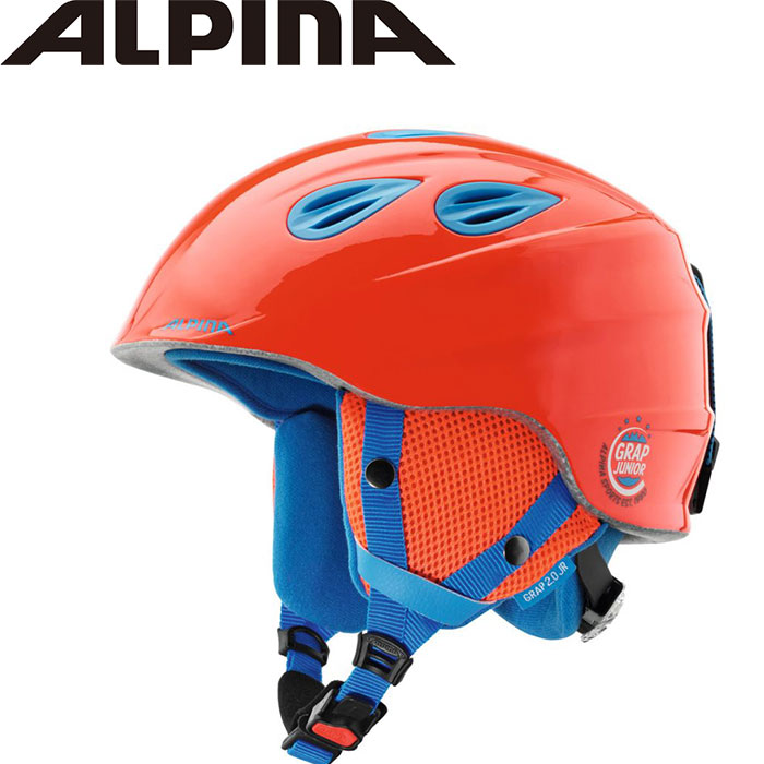 ALPIN アルピナ GRAP 2.0 JUNIOR 18-19 スキー Jr.ヘルメット (ネオンレッド):A9086