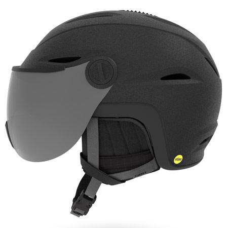 GIRO ジロ 2019モデル VUE MIPS ビュー ミップス MATTE-BLACK ヘルメット バイザー付き スキー スノーボード (-):