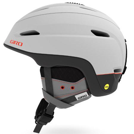 GIRO ジロ 2019モデル ZONE MIPS ゾーンミップス MATTE-LIGHT-GREY/VERMILLION ヘルメット スキー スノーボード (-):