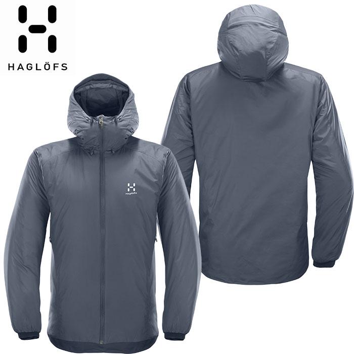 [11/16まで 10%OFFクーポンあり] [送料無料] HAGLOFS ホグロフス 18-19 Barrier Hood Men 2019 メンズ インサレーション ジャケット アウトドア (BLUEINK-STEELSKY):603745