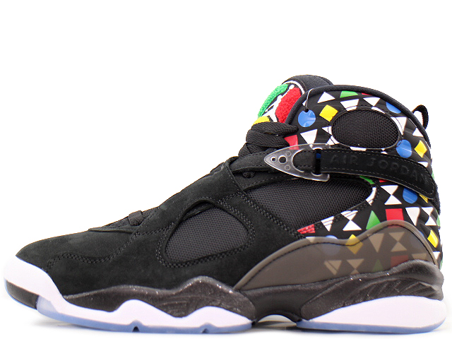 NIKE AIR JORDAN 8 RETRO Q54 CJ9218-001ナイキ エア ジョーダン 8 クアイ54BLACK/WHITE-MULTI-COLOR
