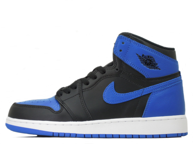【GIRLS SIZE】NIKE AIR JORDAN 1 RETRO HIGH OG BG 575441-007ナイキ エア ジョーダン 1 ミッド ロイヤルBLACK/ROYAL-WHITE