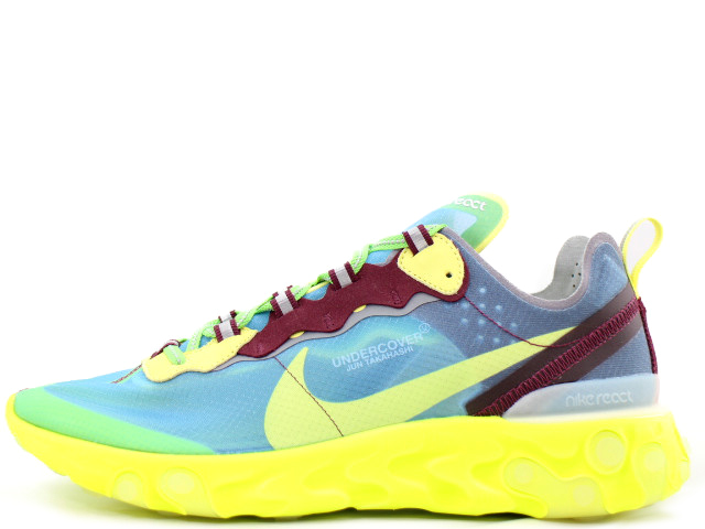 NIKE REACT ELEMENT 87 /UNDERCOVERBQ2718-400ナイキ リアクト エレメント 87 アンダーカバーLAKESIDE/ELECTRIC YELLOW