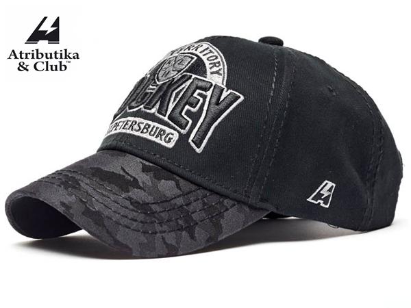 Atributika&Club/アトリブチカ KHLCAP TERITORY ※サンクトペテルブルグ黒迷彩※ 【KHLグッツ】 #10815
