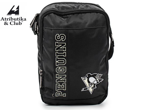 Atributika&Club/アトリブチカ NHL MINI SHOULDER BAG ※ピッツバーグ ペンギンズ黒※ 【NHLグッツ】 #58033