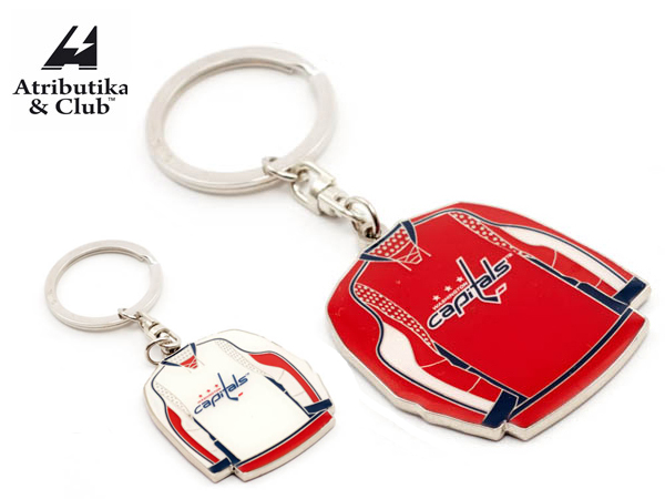 Atributika&Club/アトリブチカ NHL UNIFORM KEY RING ※ワシントン キャピタルズ※ 《ポスト投函可》【NHLグッツ】 #55013