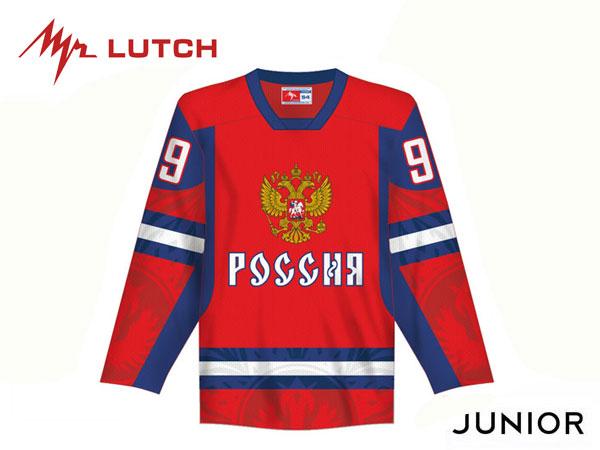 LUTCH/ルッチ TEAM RUSSIA Replicaジャージ/背番号・背ネーム入り ※RED※ ジュニア【RUSSIAグッツ】 2012-13