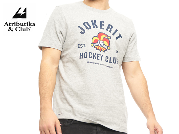 Atributika&Club/アトリブチカ KHLTシャツ EST シニア ※ヨーケリットグレー※【KHLグッツ】#271750