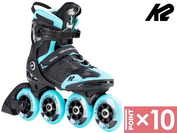 ※ポイント10倍※ K2/ケーツー VO2 90 PRO WOMEN'S BLACK/BLUE 【インラインスケート靴】