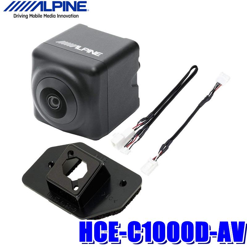 HCE-C1000D-AV アルパイン 30系アルファード/ヴェルファイア専用ダイレクト接続バックカメラ ブラック