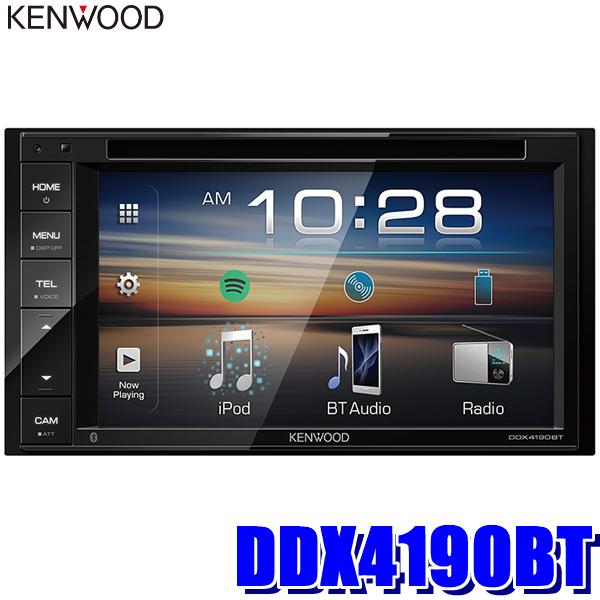 DDX4190BT ケンウッド 6.2型モニター内蔵DVD/USB/Bluetooth 2DINメインユニット