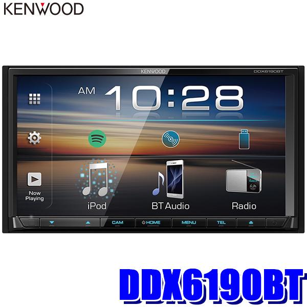 DDX6190BT ケンウッド 7型モニター内蔵DVD/USB/Bluetooth 2DINメインユニット