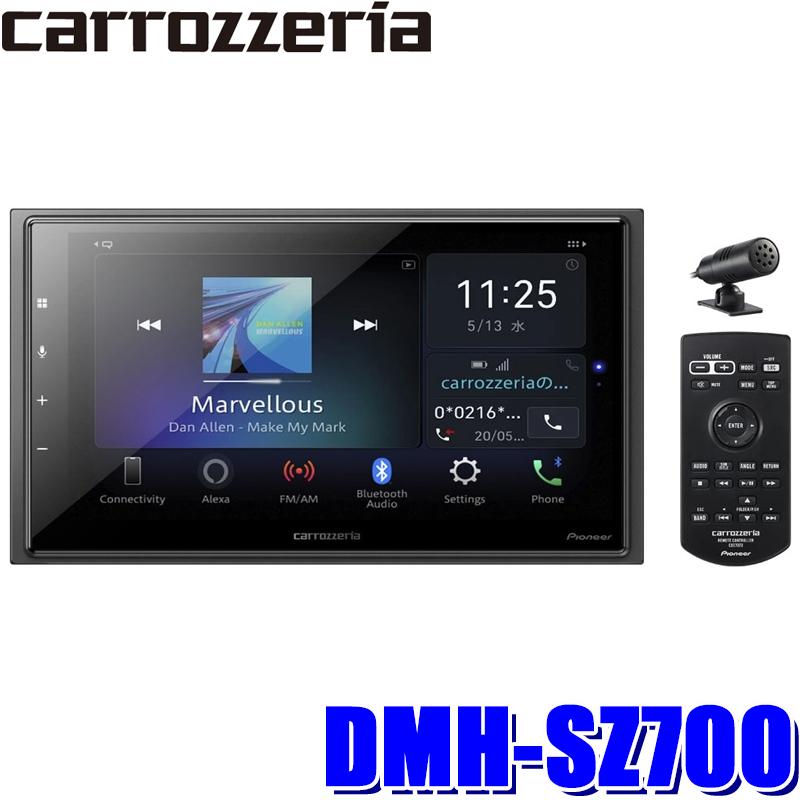【在庫あり 土曜も発送】DMH-SZ700 カロッツェリア 6.8型モニター内蔵apple CarPlay/androidauto対応USB/Bluetooth 180mm2DINディスプレイオーディオ amazon alexa搭載