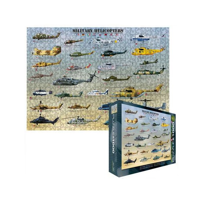 MILITARY HELICOPTER PUZZLE ジグソーパズル 1000ピース