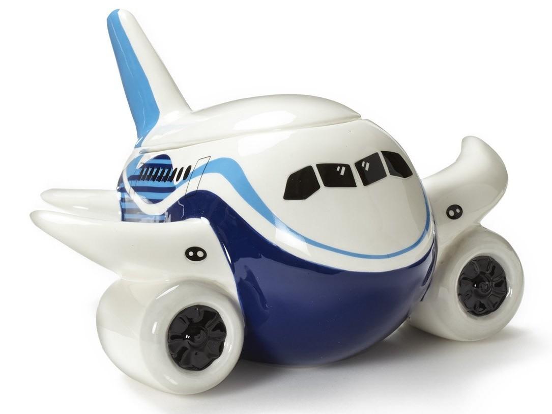 【BOEING PUDGY PLANE】 ボーイング 飛行機の小物入れ セラミック製