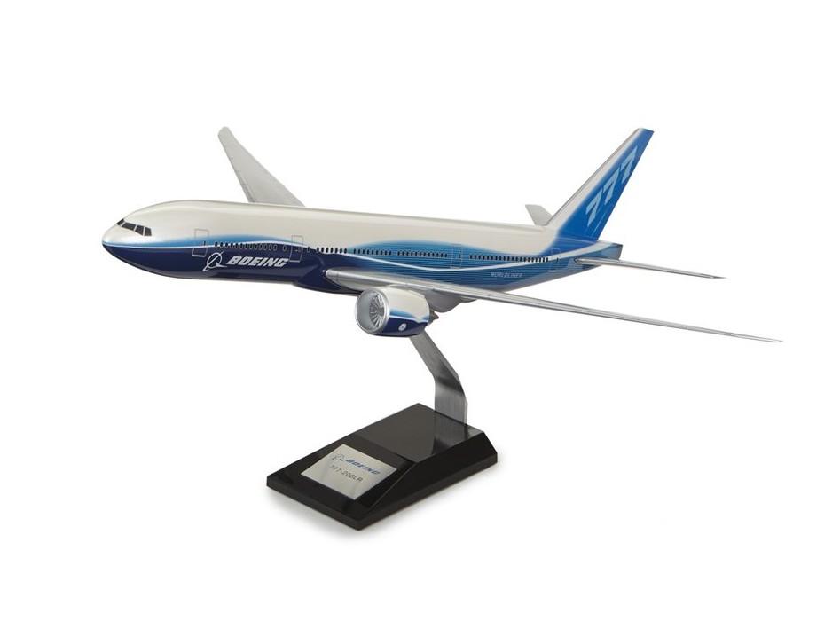 USA BOEING 大型 飛行機 模型 モデル  Boeing 777-200LR Plastic 1:144 Model ボーイング ダイキャスト