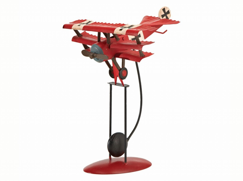 【Red Baron Balancing Model】 飛行機 振り子 置物 オブジェ バランストイ
