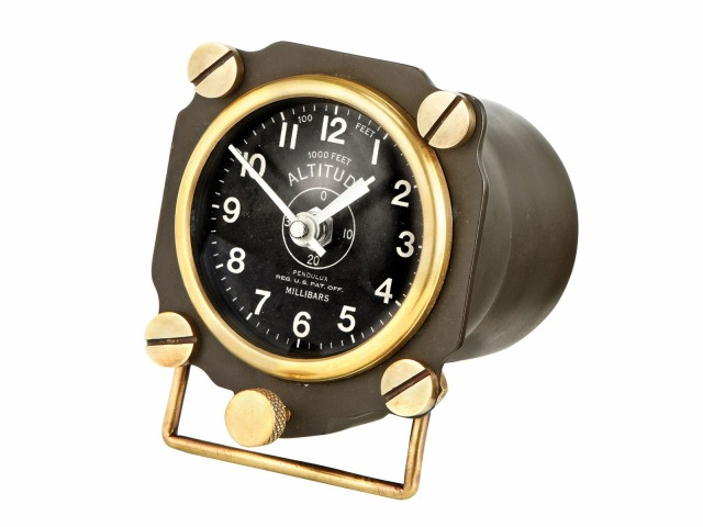 【Altimeter Display Clock】 高度計 ディスプレイクロック