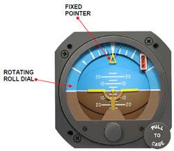 RC ALLEN ATTITUDE GYRO (RCA26) 電動式 28V 5°tilt ライト付き Blue/Brown Display