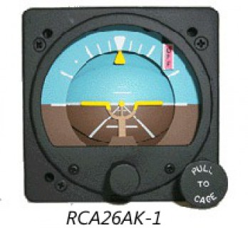 RC ALLEN ATTITUDE GYRO (RCA26) 電動式 14VDC (12V可) ライトなし Fixed Pointer Movable Roll Dial