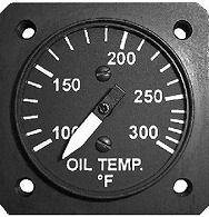 ROTAX 912/914用 OIL TEMPERATURE GAUGE 1-1/4