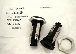 10H/18574/BN UK NATO socket (PANEL MOUNT)