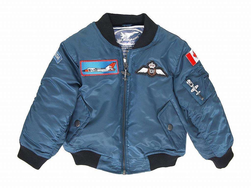 RCAF BLUE FLIGHT JACKET カナダ空軍 キッズ フライト ジャケット