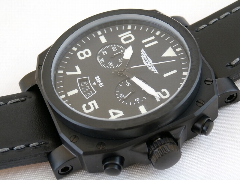 (Trintech) Trintec IDENT Instrument Inspired Aviator watch #NAV-01