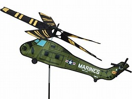 【ガーデンアクセサリー】 Marine Helicopter ウインドスピナー (風車、かざみどり、飛行機、戦闘機、ヘリコプター)