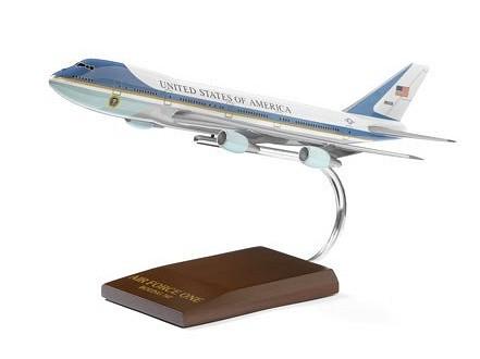 ボーイング Air Force One 747 Wood Model ダイキャスト
