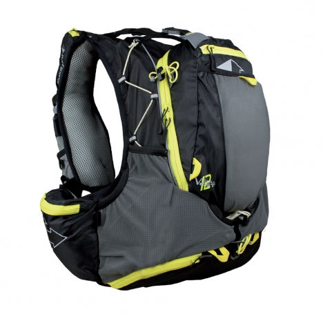 【RaidLight/レイドライト】トレイルランニング リュック Ultra Vest OLMO 12L(BLACK/YELLOW) / ウルトラベストオルモ12L (ブラックxイエロー)