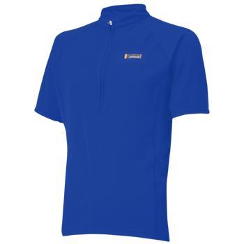 【ONYONE/オンヨネ】 Half Sleeve ZIPUP Shirt Blue / ハーフスリーブジップアップシャツ ブルー