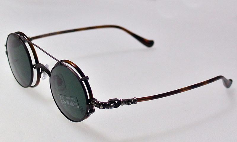 CHROME HEARTS WOLFY-A 45-23-144 BROWN STRIPE chrome WOLFY-A 45 eyewear Brown Stripe
