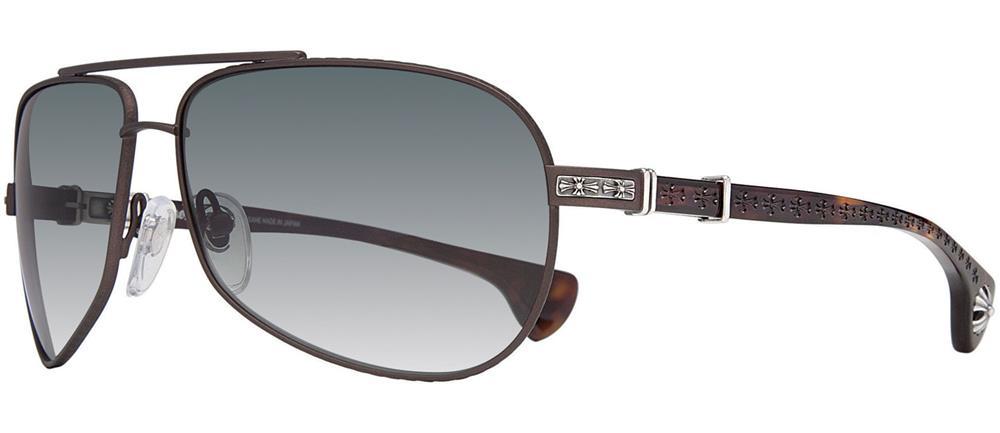 a66156c4e220 SKYTREK  Chrome Hearts GRAND BEAST Sunglasses Shiny Silver - Black ...