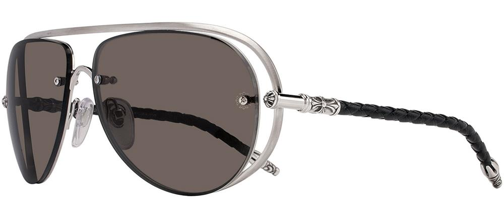 JEWEL BOX chrome hearts sunglasses Matte Black - Black Leather