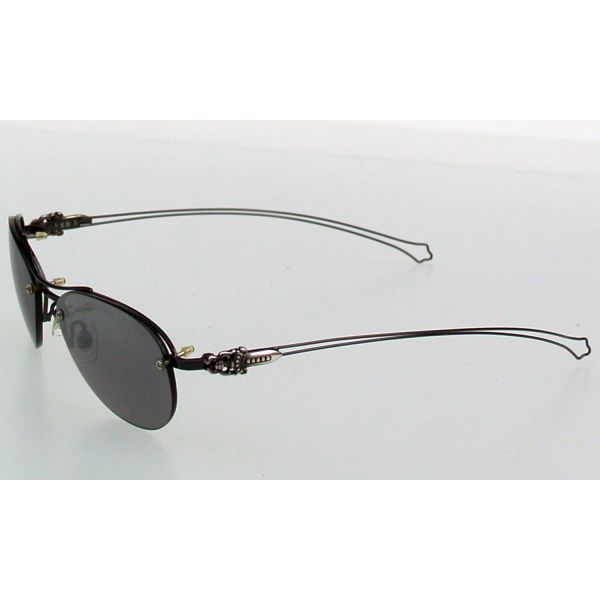 DRAG PIPE IV SHINY BLACK chrome hearts sunglasses