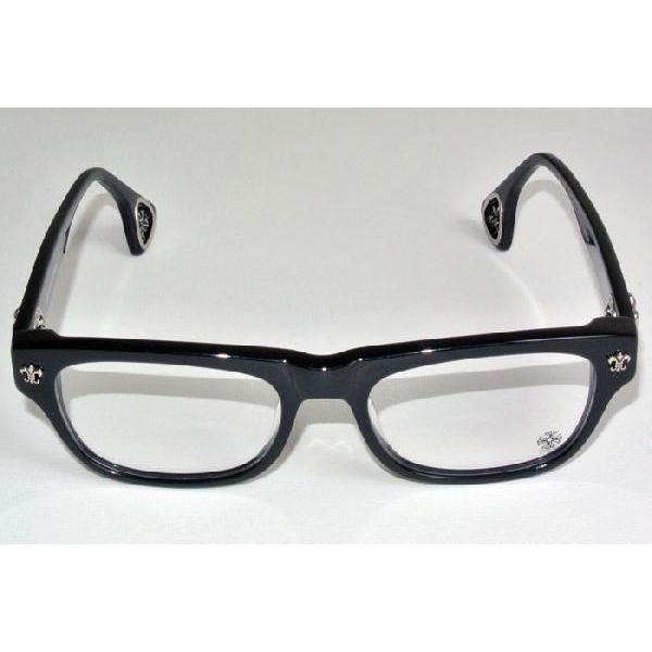 填充的铬心黑眼镜眼镜