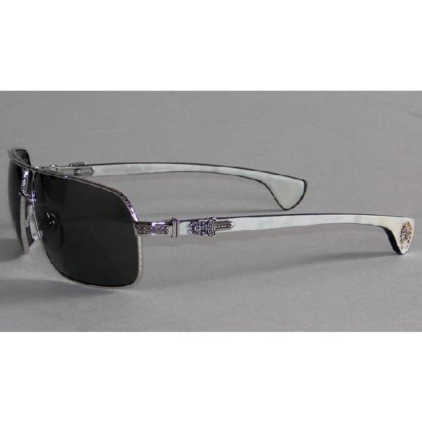 9ab9030411df SKYTREK  MOOREHEAD silver   white ebony chrome hearts sunglasses ...