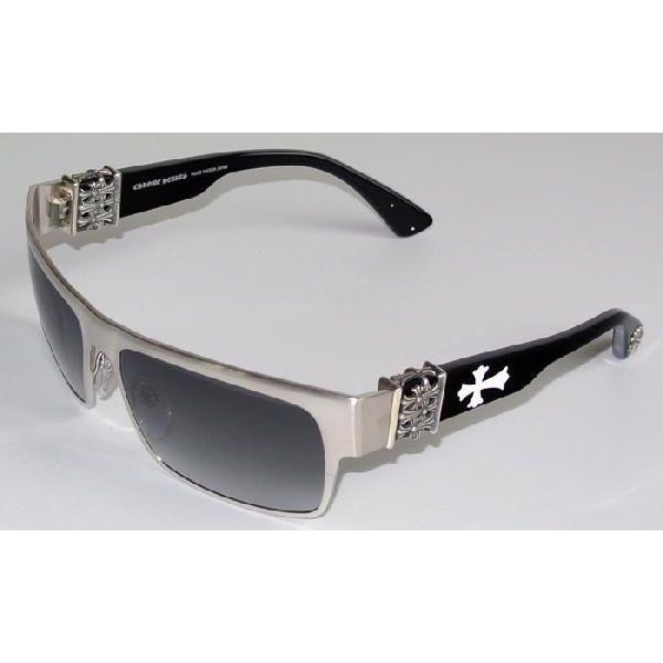 a9c84b69de95 SKYTREK  FLAVOR SAVER chrome hearts sunglasses BRUSHED SILVER BLACK ...