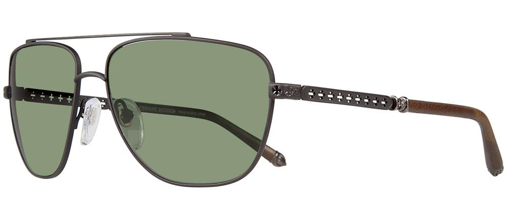 WRECKED 'EM chrome hearts sunglasses Leather
