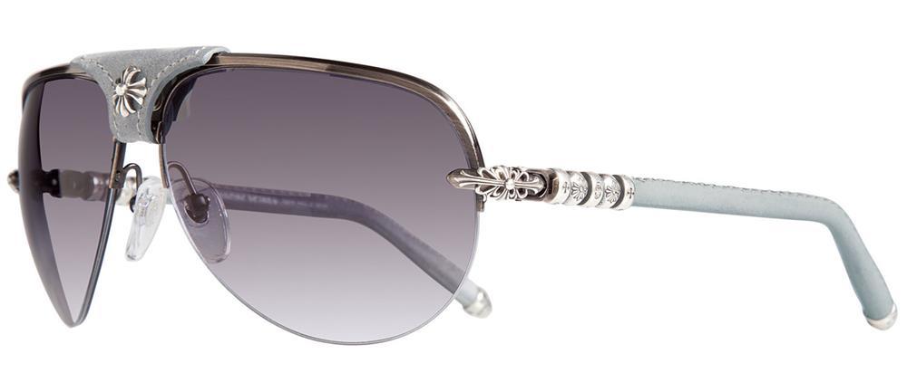 93a0cd5425b SKYTREK  BALLS chrome hearts sunglasses Matte Black - Black Leather ...