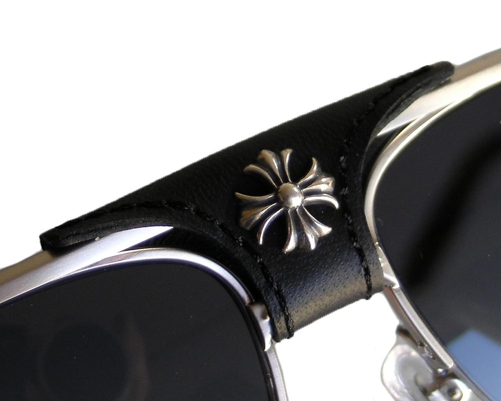 767461e1d24 SKYTREK  BALLS Brushed Silver-Black Leather chrome Hertz eyewear ...