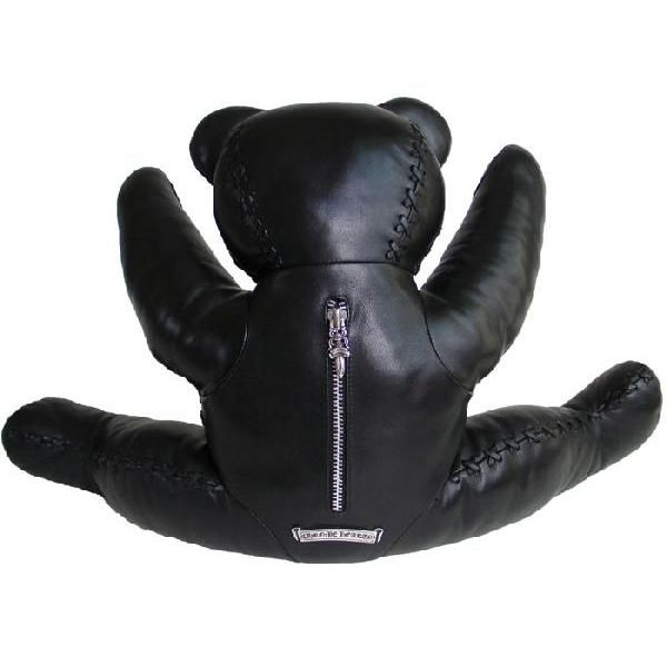Chrome hearts Teddy bear large black leather